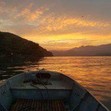 meio do canal - vista do barco